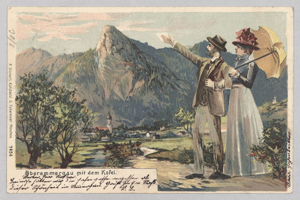 Oberammergau / Postkarte: Haus der Bayerischen Geschichte