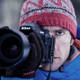 Fotograf Thomas Senf bei der Arbeit in Patagonien © Thomas Senf